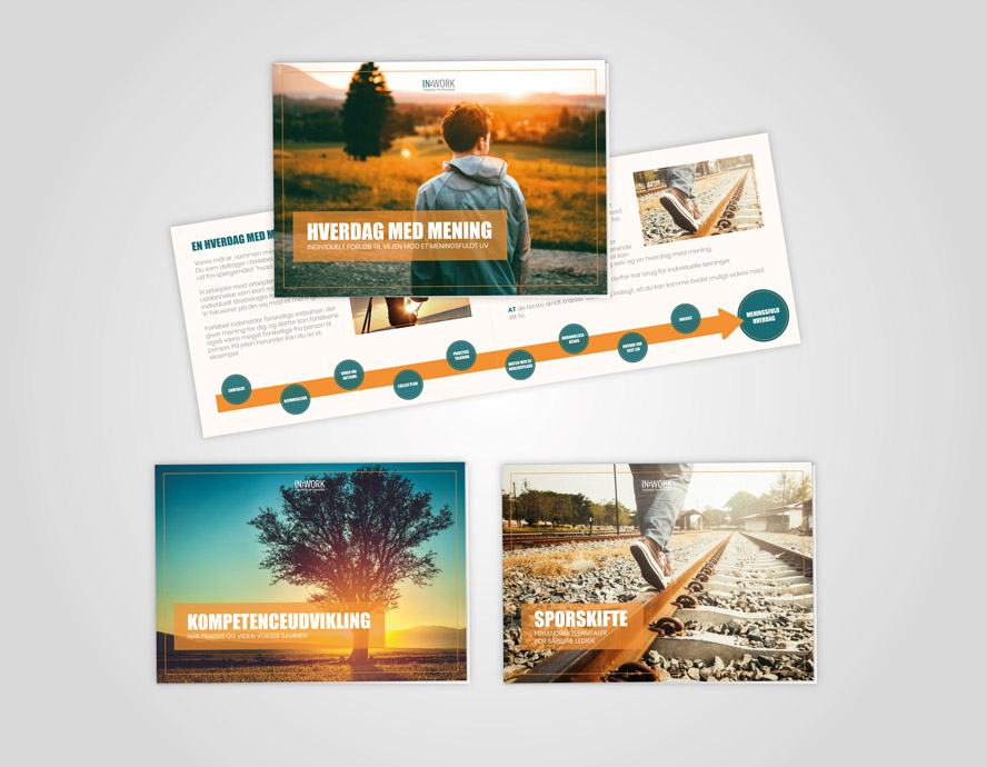 Inwork foldere - Design, udvikling og produktion