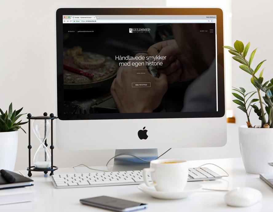 Hjemmeside med webshop design og SEO optimering til Guldsmed Kristian Otte