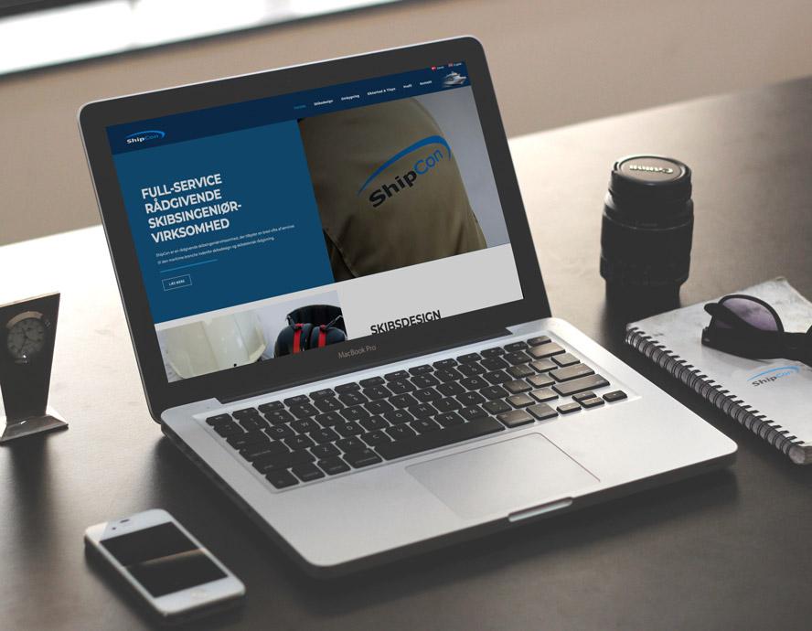 Responsiv hjemmesidedesign og SEO optimering til Shipcon