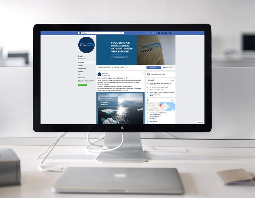 Udvikling og administration af Shipcon Frederikshavn sociale medier