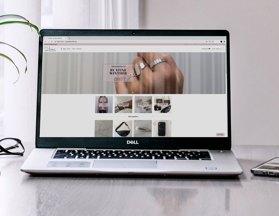 Re-lancering af WooCommerce webshop for By Stine Winther