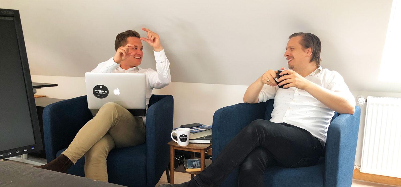 Iværksætter historien med Lars Marco og Mads Mathiasen