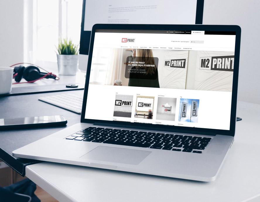 Ny webshop til M2 Print